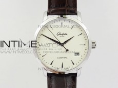 Excellence Panorama Date Phase SS ETC Marker 1:1 Best Edition White Dial on Brown Leather Strap A100