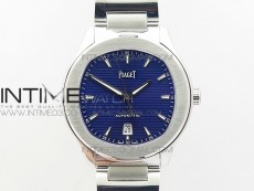 Piaget Polo S 42mm SS MKF 1:1 Best Edition Blue Textured Dial on SS Bracelet A1110P