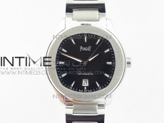 Piaget Polo S 42mm SS MKF 1:1 Best Edition Black Textured Dial on SS Bracelet A1110P