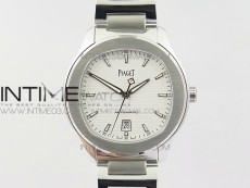 Piaget Polo S 42mm SS MKF 1:1 Best Edition White Textured Dial on SS Bracelet A1110P