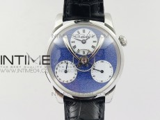 MB&F Legacy Machine Split Escapement CYF Best Edition Blue Dial On Black Leather Strap