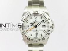 Explorer II 42mm 216570 JF SS V3 1:1 Best Edition White Dial on SS Bracelet A2836