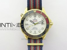 """Seamaster Diver 300M YG """"COMMANDER'S WATCH"""" MKF 1:1 Best Edition on Nylon Strap A2507 (Free tool)"""