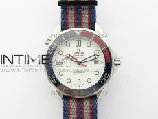 """Seamaster Diver 300M SS """"COMMANDER'S WATCH"""" MKF 1:1 Best Edition on Nylon Strap A2507 (Free SS Bracelet and tool)"""