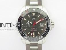 Aquaracer Calibre 43mm Timekeeper Ceramic Bezel SS GSF 1:1 Best Edition Gray Dial on SS BraceletA2824