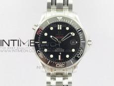 Seamaster 300M 007 50th SS OMF V2 1:1 Best Edition Black 007 Dial Ceramic Bezel on SS Bracelet A2824 (Black Balance Wheel)
