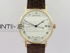 Classique Auto 5177 RG 3944 MK V2 1:1 Best Edition White Dial Numbers Markers On Brown Leather A777Q