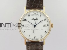 Classique Auto 5177 RG MK V2 1:1 Best Edition White Dial Numeral Markers On Brown Leather A777Q