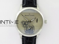 Masterpiece Square Wheel SS V3 AMF 1:1 Best Edition Silver Dial on Black Leather Strap A6498