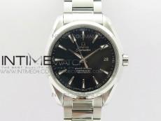 Aqua Terra 150M SS 1:1 Best Edition Black Textured Dial Silver Second Hand on SS Bracelet A8500