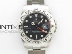 Explorer II 42mm 216570 Black 904L SS GMF 1:1 Best Edition Black Dial on Bracelet A3186 (Correct Hand Stack)