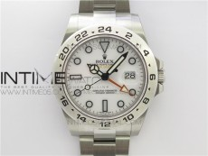 Explorer II 42mm 216570 Black 904L SS GMF 1:1 Best Edition White Dial on Bracelet A3186 (Correct Hand Stack)