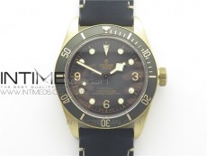 Heritage Black Bay Bronze Gray ZF 1:1 Best Edition on Leather Strap A2824
