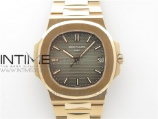 Nautilus 5711/1R PPF 1:1 Best Edition Brown Textured Dial on RG Bracelet 324CS (Free box)
