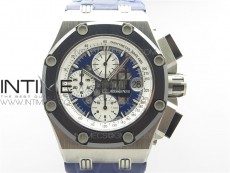 Royal Oak Offshore Ruben Barrichello II JF Best Edition Blue Dial on Blue Leather Strap A3126 V2