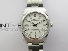 Oyster Perpetual 39mm 114300 UBF 1:1 Best Edition White Dial on A2836/2824 SS Bracelet