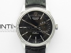 Cellini 50519 Real Date SS BP Best Edition Black Dial Sticks Markers on Black Leather Strap SA3165