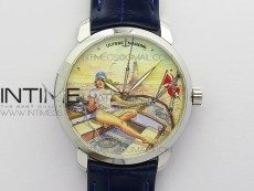 CLASSICO SS Style04 FKF Best Edition On Blue Leather Strap A2892