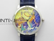 CLASSICO SS Style10 FKF Best Edition On Blue Leather Strap A2892