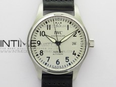 MARK XVIII IW327002 SS FKF 1:1 Best Edition White Dial On Black Leather Strap