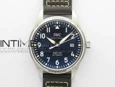 MARK XVIII Le Petit Prince IW327004 SS FKF 1:1 Best Edition Blue Dial On Brown Leather Strap