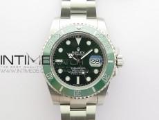 Submariner 116610 LV Green Ceramic 316L Steel BP 1:1 Best Edition Green Dial on SS Bracelet SA3135 V2