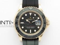 Yacht-Master 126655 BP Best Edition Diamond Bezel on Black Rubber Strap SA3135