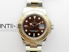 Yacht-Master 116621 BP Best Edition Brown Dial on SS/RG Bracelet SA3135