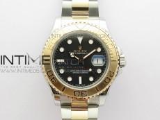 Yacht-Master 116621 BP Best Edition Black Dial on SS/RG Bracelet SA3135
