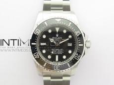 Sea-Dweller 126660 Black Ceramic ARF 1:1 Best Edition New Black Dial 904L SS Case and Bracelet A2824