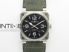 BR 03-92 SS Case V3 Best Edition Black Dial on Brown Leather Strap MIYOTA 9015