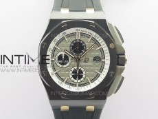 Royal Oak Offshore 44mm Black Ceramic Germany Edition JF 1:1 Best Edition on Rubber Strap A3126