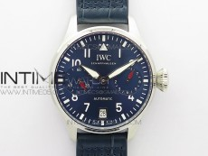 Big Pilot IW501008 Real PR SS ZF 1:1 Best Edition Blue Dial on Blue Leather Strap A51111