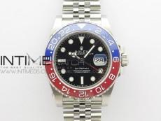 GMT Master II 126710 BLRO Red/Blue Ceramic 316L Steel BP 1:1 Best Edition Black Dial on SS  Jubilee Bracelet SA3285