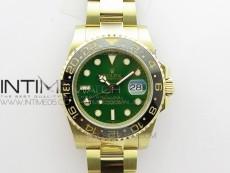 GMT Master II 116718 LN Black Ceramic 316L Steel GMF 1:1 Best Edition Green Dial on YG Bracelet A3186