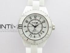 J12 38mm BV+ 1:1 Best Edition White Korea Ceramic White Dial Numeral Markers on Bracelet Calibre 12.1