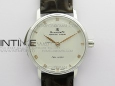 Sexual Revolution Erotic Watch SS ZSF White Dial Gold Markers on Brown Leather Strap A23J