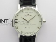 Sexual Revolution Erotic Watch SS ZSF White Dial SS Markers on Black Leather Strap A23J