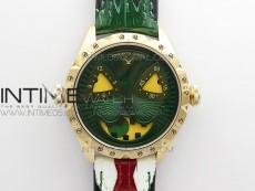 Konstantin Chaykin Joker RG TWF Best Edition Green Dial on Black Tie Leather Strap NH35A