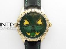 Konstantin Chaykin Joker RG TWF Best Edition Green Dial on Black Leather Strap NH35A