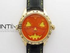 Konstantin Chaykin Joker RG TWF Best Edition Orange Pumpkin Dial on Black Leather Strap NH35A