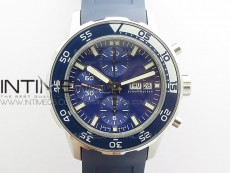 Aquatimer Chrono SS BLS Best Edition Blue Dial on Blue Rubber Strap A7750