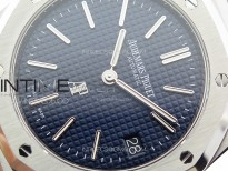 Royal Oak 39mm 15202 SS ZF 1:1 Best Edition Blue Textured Dial on SS Bracelet A2121