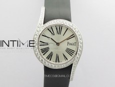 Limelight Gala G0A38160 32mm SS ZF 1:1 Best Edition Silver Dial On Leather Strap Siwss Quartz