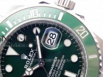 Submariner 116610 LV Green Ceramic 904L SS Case ZF 1:1 Best Edition Green Dial  On 904L SS Bracelet VR3135