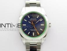 Pre-Order: Milgauss 116400 GV 904L Steel ARF 1:1 Best Edition Blue Dial on Bracelet SH3131