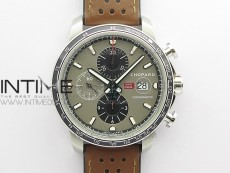 Mille Miglia 168571 SS V7F 1:1 Best Edition Gray Dial On Brown Gummy Strap A7750 to Cal.107179