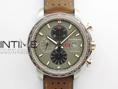 Mille Miglia 168571 SS/RG V7F 1:1 Best Edition Gray Dial On Brown Gummy Strap A7750 to Cal.107179
