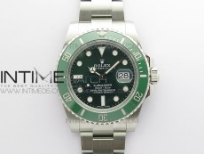 Submariner 116610 LV Green Ceramic ZZF 904L 1:1 Best Edition on SS Bracelet SA3135 V3