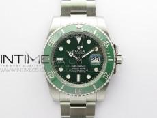 Submariner 116610 LV Green Ceramic ARF 1:1 Best Edition 904L SS Case and Bracelet A2824 V4